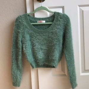 American apparel cropped fuzzy sweater